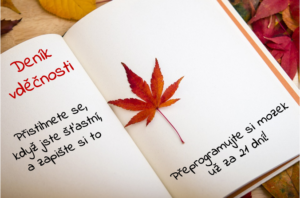 deník vděčnosti
